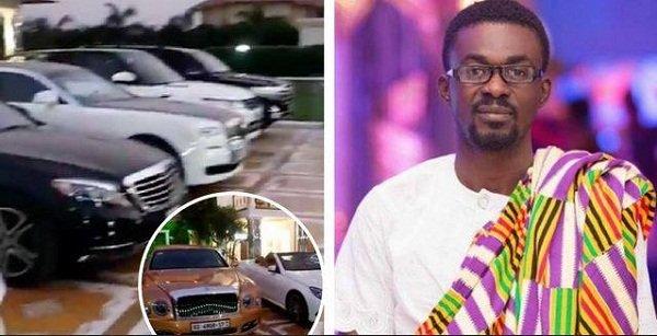 Video: Take a look at Zylofon boss, Nana Appiah Mensah's luxurious cars at his plush mansion at Trasacco
