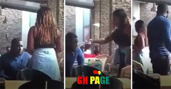 Man gets water thrown at him for proposing to his girlfriend (Video)