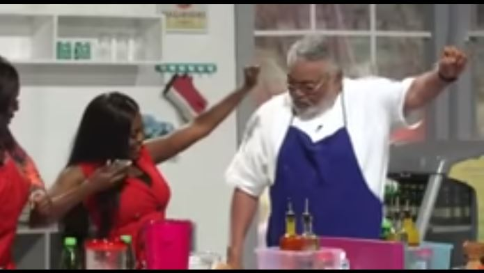Former Prez. J.J Rawlings Dances Azonto With Shatta Wale's Hit Song 'Freedom'