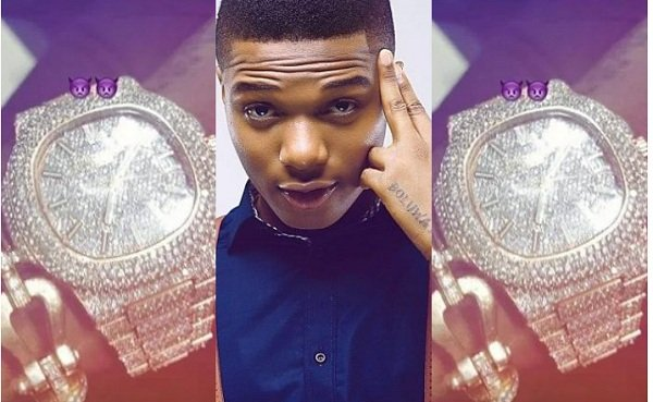Wizkid Shows Off Another Diamond Encrusted Wristwatch Worth $85k [Photos+Video]