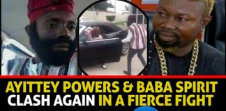 Video: Boxer Ayittey Powers And Comedian Baba Spirit Clash Again In A Fierce Fight