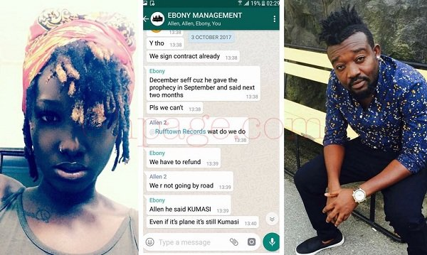 """""""Ebony never disregarded her death prophecies"""" -Bullet reveals as he shares their chats [Screenshots]"""