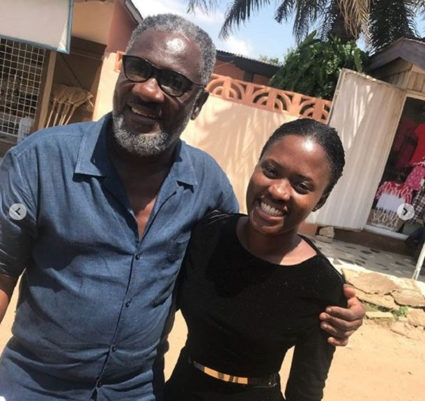 Video: Fella Makafui hangs out with Ebony's Daddy after the one-week memorial service