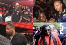 Here Are Photos OF Ghanaian Celebrities Spotted At Ebony's One Week Memorial Service