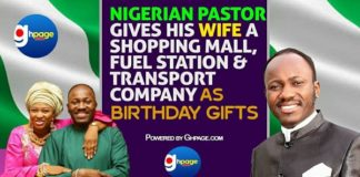 Video: Nigerian PastorGives His Wife A Shopping Mall, Fuel Station And Transport Company As Birthday Gift