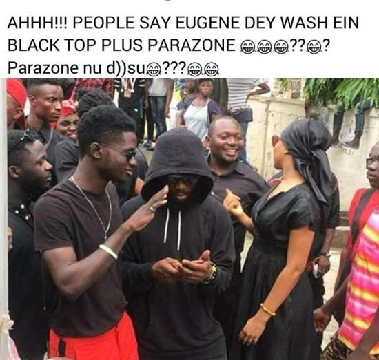 Fan mocks Kuami Eugene for wearing a faded black top to Ebony's One-Week Memorial Service