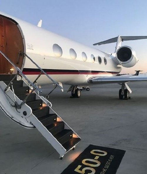 Photos: Floyd Mayweather gets a new jet and a diamond jewellery for his 41st birthday