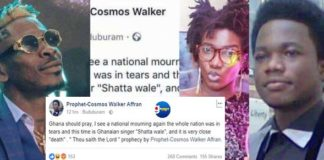 After Ebony,Another Prophet predicts the death of Shatta Wale
