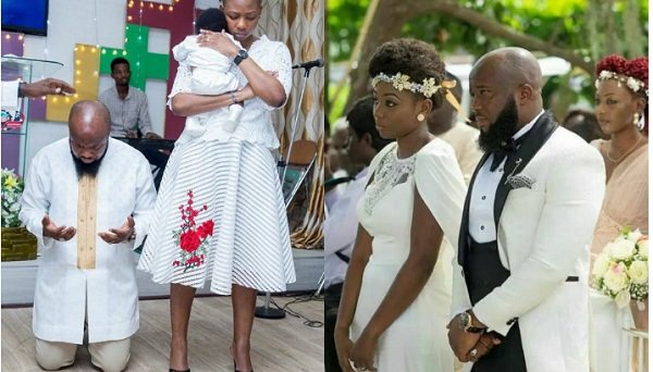 Trigmatic Outdoors First Child At Church With His Gorgeous Wife (Photos)