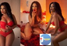 Photos: Ghanaian Actress Goes Half Nu-de On Social Media To Celebrate Val's Day