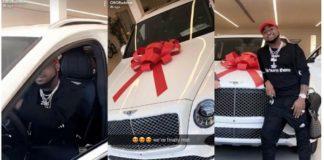 Photos: Davido's Brand New Bentley Bentayga Stirs Up Social Meadia