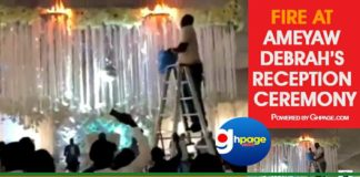 Video: Fire at Ameyaw Debrah's reception ceremony