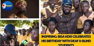 Inspiring: Bisa Kdei Celebrates His Birthday With Deaf And Blind Students [Photos+Video]