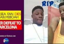 Chelsea Fan Dies At Asuoyeboah After Chelsea Defeat To Barcelona