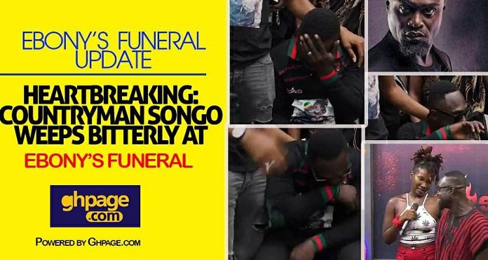 Heartbreaking: Countryman Songo Weeps Bitterly At Ebony's Funeral [Watch Video]