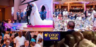 Photos: Nana Addo, Bill Gates & other millionaires attend Dangote's daughter's grand white wedding