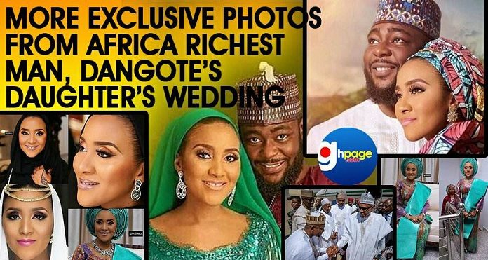 More Exclusive PHOTOS From African Richest Man, Dangote's Daughter's wedding