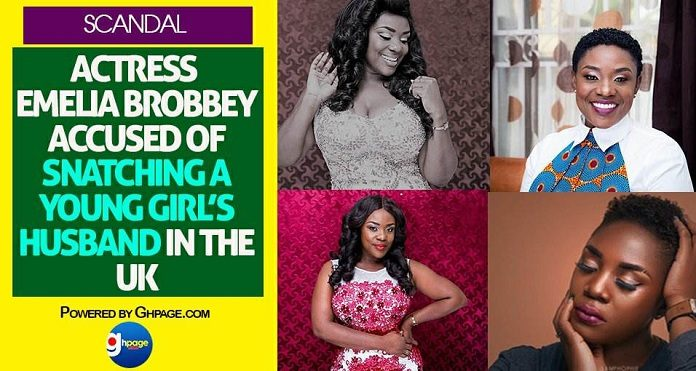 Scandal: Actress Emelia Brobbey Accused Of Snatching A Young Girl's Husband In The UK