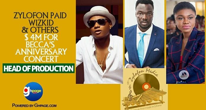 Zylofon paid Wizkid & others $ 4m for Becca's anniversary concert – Head of Production