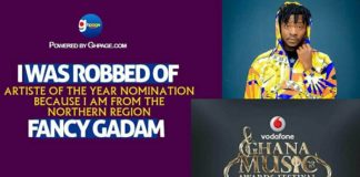 "'I Was Robbed Of Artist Of The Year Nomination Because I Am From The Northern Region""- Fancy Gadam"