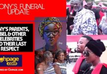 Video: Watch when Mzbel and other Ghanaian Celebrities paid their last respect to Ebony