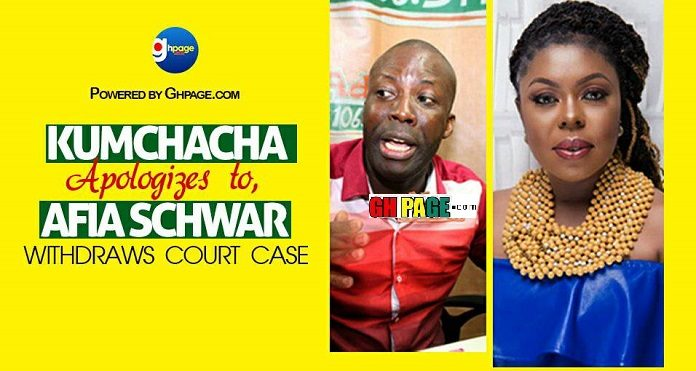 Kumchacha Apologizes To Church Members For His Clownish Behaviour And Withdraws Afia Schwarzenegger's Assault Case