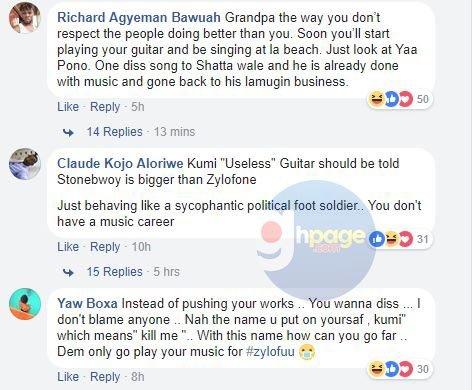 Ghanaians troll Kumi guitar for dissing Stonebwoy[Screenshots]