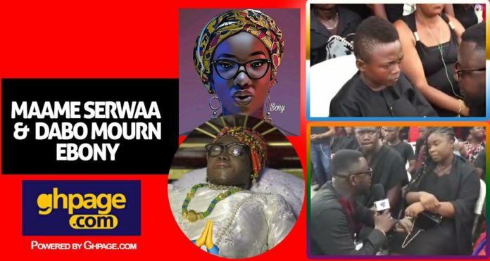 Maame Serwaa and Yaw Dabo mourn Ebony Reigns in tears(Video)