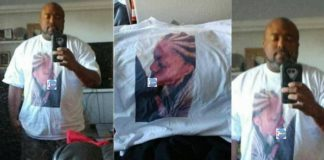 Photos: Man catches His Girlfriend Cheating,takes photo,print it on his shirt & wears it to her workplace