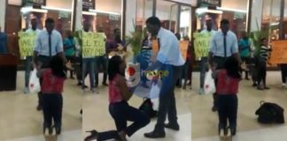 Viral Video: Man embarrasses fiance by rejecting her love proposal at the Accra Mall