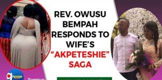 Audio: Owusu Bempah responds to wife's 'Akpeteshie Drinking Saga'