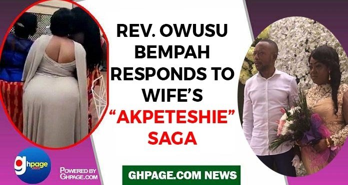 Hot Audio: Rev. Owusu Bempah Responds To Wife's 'Akpeteshie' Drinking Saga