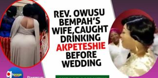 Reverend Owusu Bempah's wife caught drinking Akpeteshie