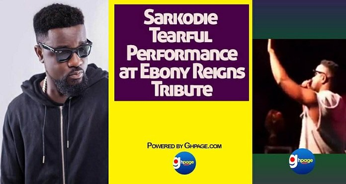 Watch Sarkodie's Spectacular But Tearful Performance at Ebony's Tribute Concert