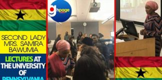 PHOTOS: Second Lady, Mrs. Samira Bawumia Lectures At The University Of Pennsylvania
