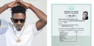 Shatta Wale's Alleged BECE Certificate Finally Found – Check It Out[Photo]