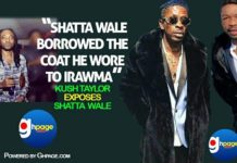 Photos: Shatta Wale Borrowed The Coat He Wore To IRAWMA -Kush Taylor Exposes Shatta