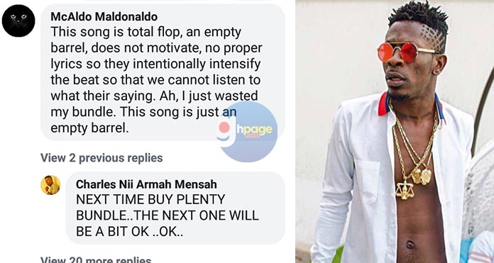 """""""This song is total flop, an empty barrel, does not motivate"""" – SM fan blasts Shatta Wale and Militants"""