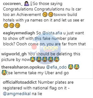 Photos: Fans mock Sista Afia over her newly bought customized Range Rover