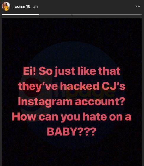 Exclusive: Stonebwoy's daughter Catherine Jidula's Instagram account hacked