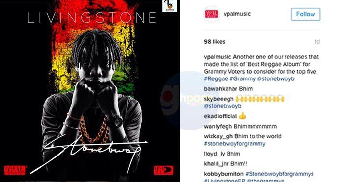 Stonebwoy up for Grammy Awards 'Best Reggae Album' nomination - VP Records announces