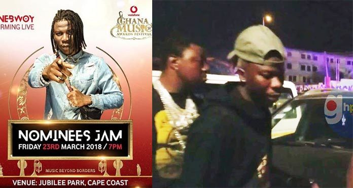 Hot Video: Stonebwoy Spotted At The VGMA Nominees Jam Despite Zylofon Brouhaha