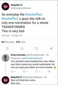 Rapper Strongman Disappointed With VGMA Nomination Results; Express His Anger On Social Media