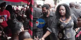 Photos: Top NDC Officials pay their last respect to Ebony Reigns