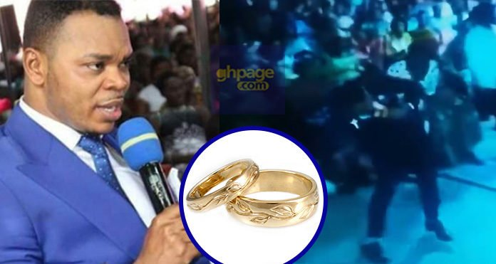 Video: Watch How 'Angel' Obinim Commanded Wedding Rings For Single Female Members In His Church