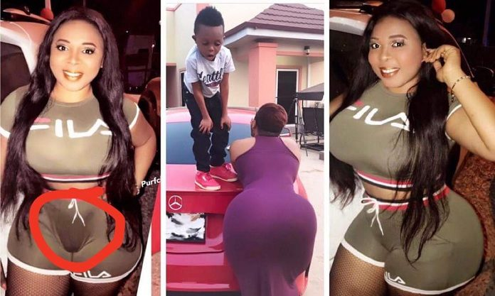 Photos: Don Little's Alleged Girlfriend Exposes Her Camel Toe In New Photos