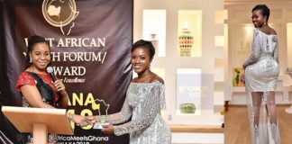 Video+Photos: Fella Makafui Wins Actress Of The Year At The West African Youth Forum/Awards, See The Dress She Wore To The Event
