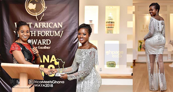 Videophotos Fella Makafui Wins Actress Of The Year At The West African Youth Forumawards, See -7141