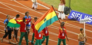 Ghana's Deaf and Dumb contingent at Gold Coast sing and dance to Jama