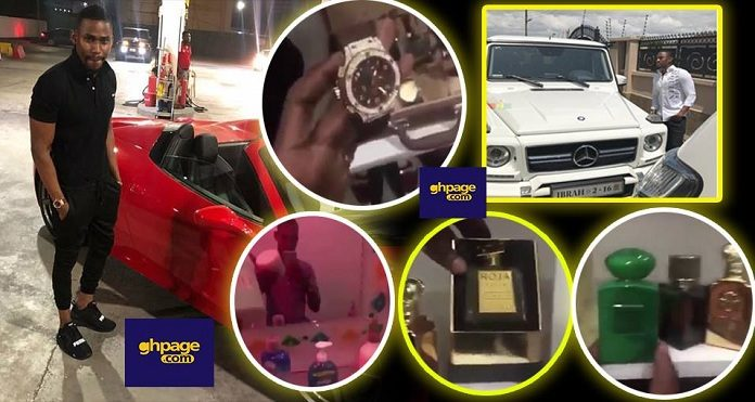 Video: Ibrah One Puts His Entire Wardrobe On Social Media And His Perfume Alone Can Buy A Ferrari